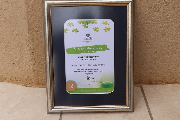 LEPELLE-NKUMPI MUNICIPALITY SCOOPED POSITION 2 IN DISTRICT GREENEST MUNICIPALITY COMPETITION