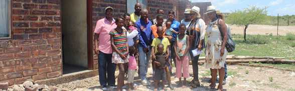 A GOOD SAMARITAN DONATES FOOD PARCELS TO THE INDIGENT FAMILIES